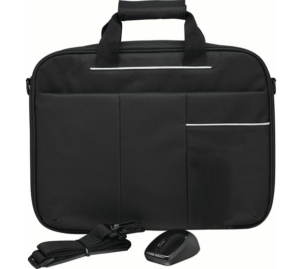 "Image of LOGIK L15BUN16 15.6"" Laptop Case with Wireless Mouse & Screen Wipes - Black"