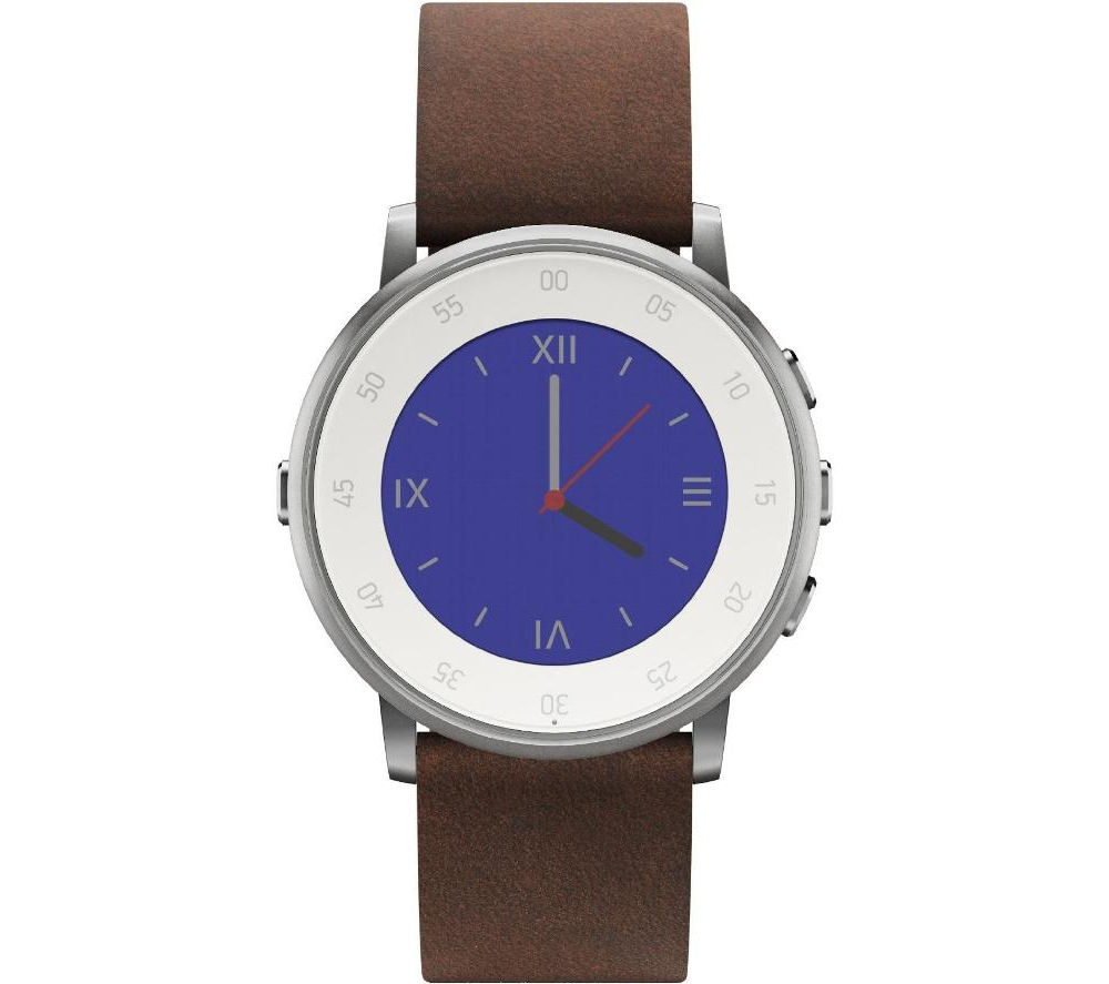 Buy pebble time round smartwatch silver free delivery currys for Pebble watches