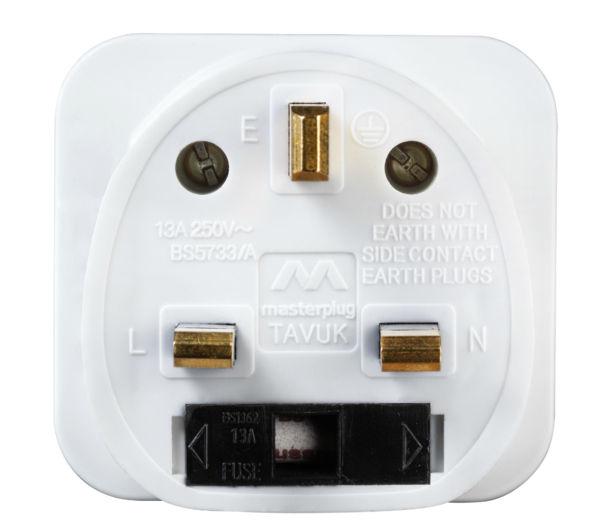 Uk To Thailand Travel Adapter Argos Mac Vga Adapter Cost Usb 3 0 Multi Adapter M 2 Nvme Ssd Pcie X4 Adapter: MASTERPLUG TAVUK-MP Universal To UK Plug