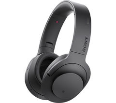 SONY h.ear on MDR-100ABN Wireless Bluetooth Noise-Cancelling Headphones - Black