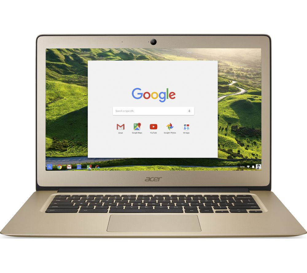 "ACER CB3-431 14"" Full HD Chromebook - Gold + Cloud Storage for Tablets & Mobiles - 200 GB, 1 year"