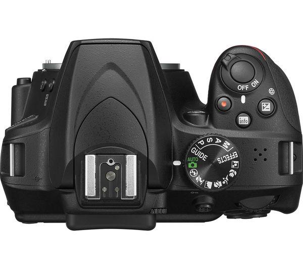 Image of NIK D3400 DSLR Camera - Black, Body Only