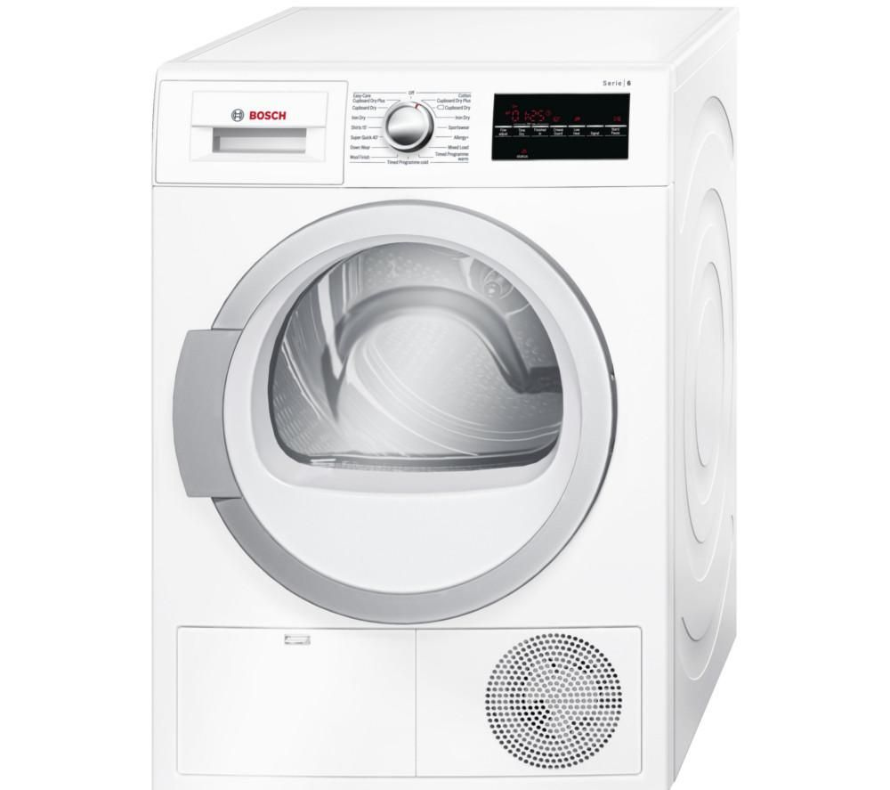 buy bosch wtg86401gb condenser tumble dryer white free. Black Bedroom Furniture Sets. Home Design Ideas