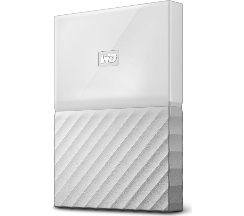 WD My Passport Portable Hard Drive - 1 TB, White