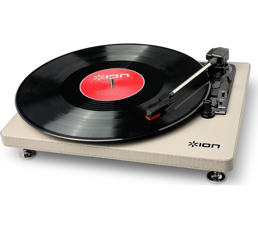 Click to view more of ION  Compact LP USB Turntable - Cream, Cream