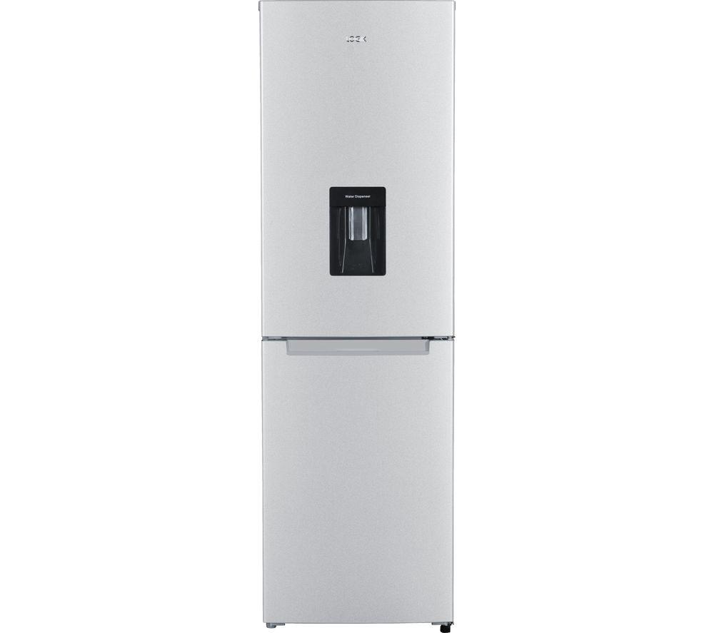LOGIK LFFD55S17 60/40 Fridge Freezer - Silver