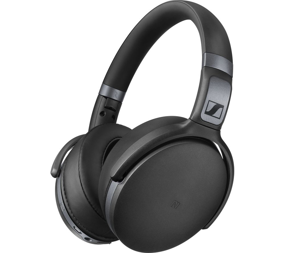 buy sennheiser wireless bluetooth headphones black free delivery currys. Black Bedroom Furniture Sets. Home Design Ideas