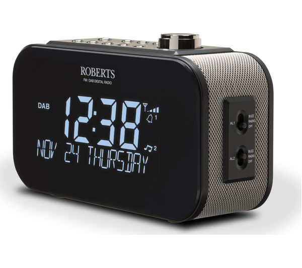 buy roberts ortus 3 dab fm clock radio black free delivery currys. Black Bedroom Furniture Sets. Home Design Ideas