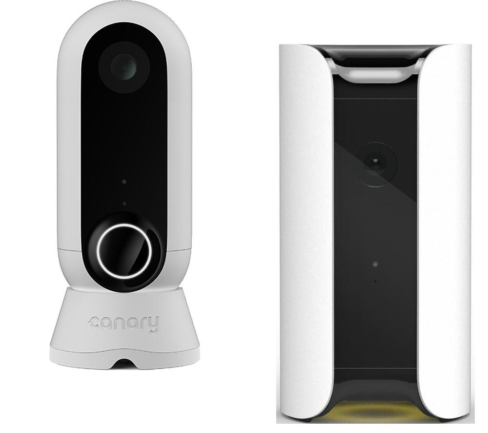 Image of CANARY All-In-One Smart Home Security Camera & Flex Home Security Camera Bundle