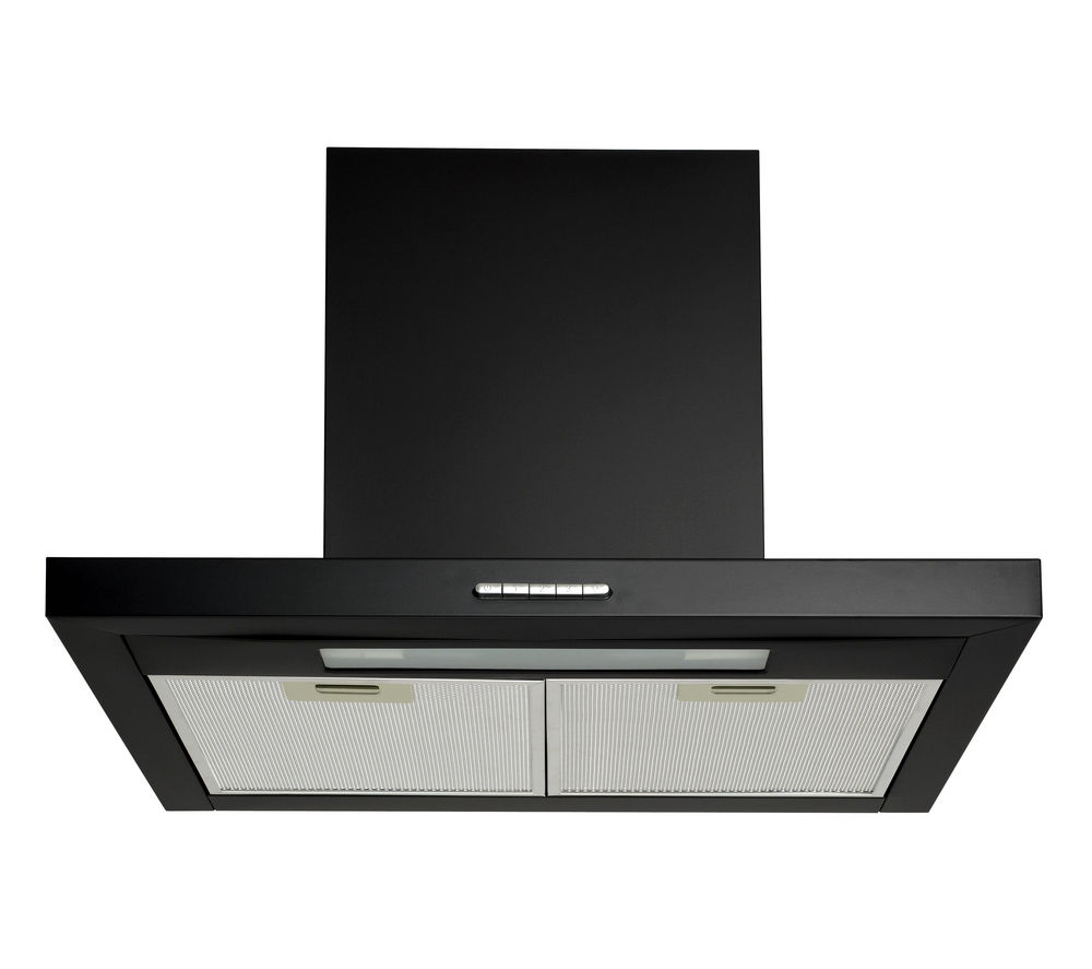 LOGIK  L60CHDB12 Chimney Cooker Hood  Black Black