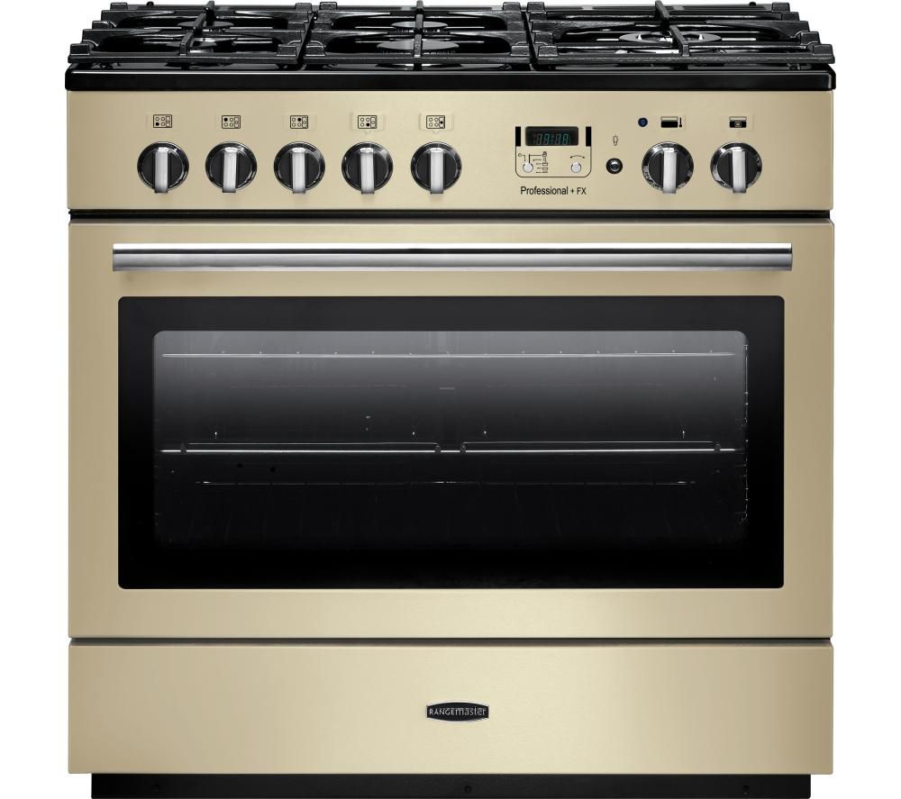 RANGEMASTER  Professional FX 90 Dual Fuel Range Cooker  Cream & Chrome Cream
