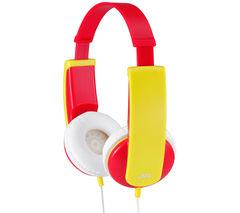 JVC Tinyphones HA-KD5-R-E Kids' Headphones - Red & Yellow