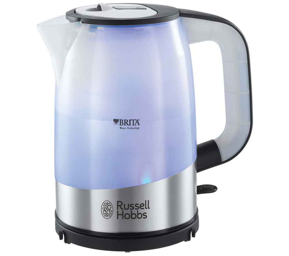 buy russell hobbs 18554 brita purity jug kettle stainless steel free delivery currys. Black Bedroom Furniture Sets. Home Design Ideas