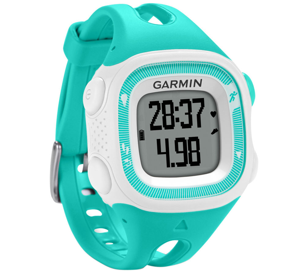 Garmin Forerunner 15 GPS Running Watch with Heartrate Monitor  Teal & White Black