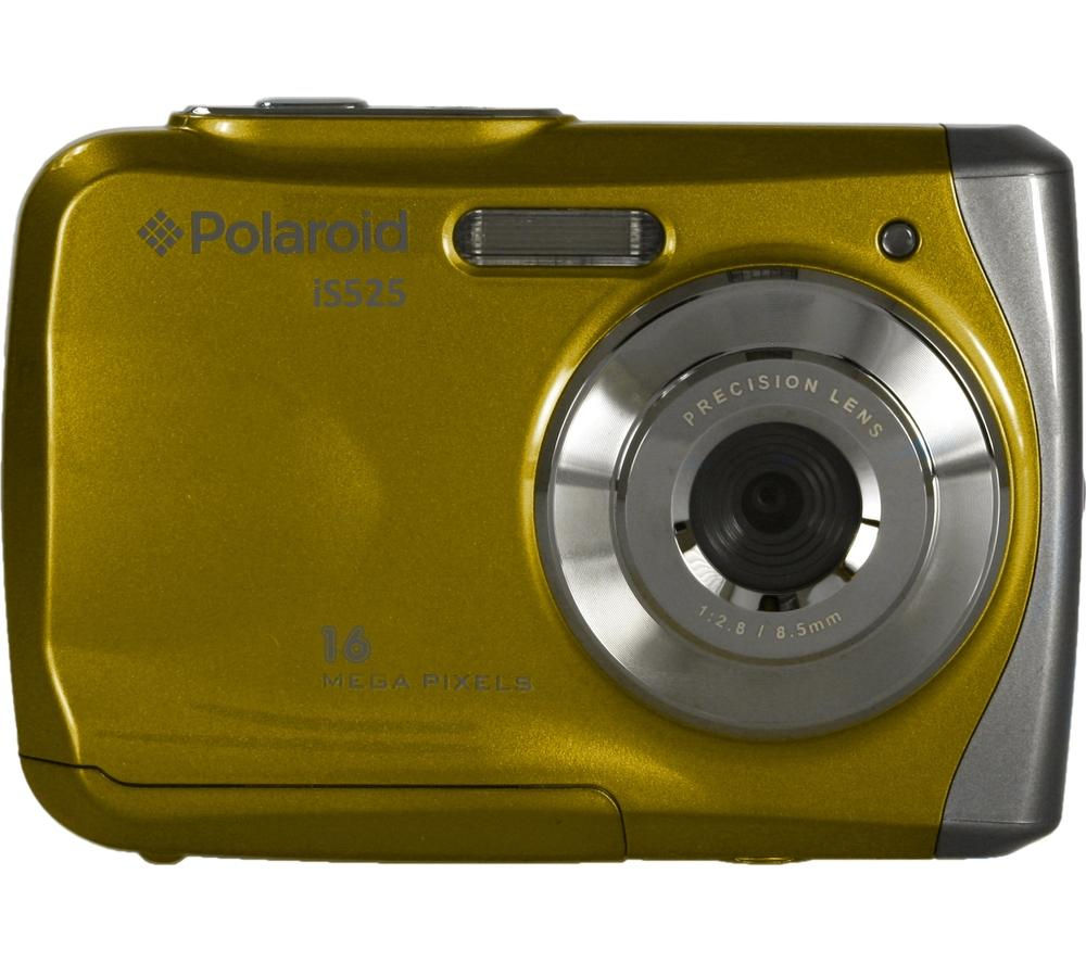 POLAROID  IS525 Tough Compact Camera - Yellow +  Hard Shell Camera Case - Black