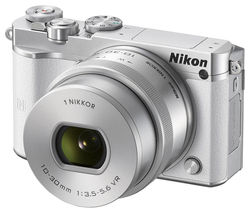 NIKON 1 J5 Compact System Camera with NIKKOR 10-30 mm f/3.5-5.6 VR Zoom Lens - White