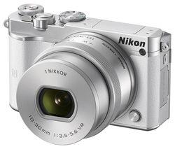 NIKON 1 J5 Mirrorless Camera with 10-30 mm f/3.5-5.6 Lens - White