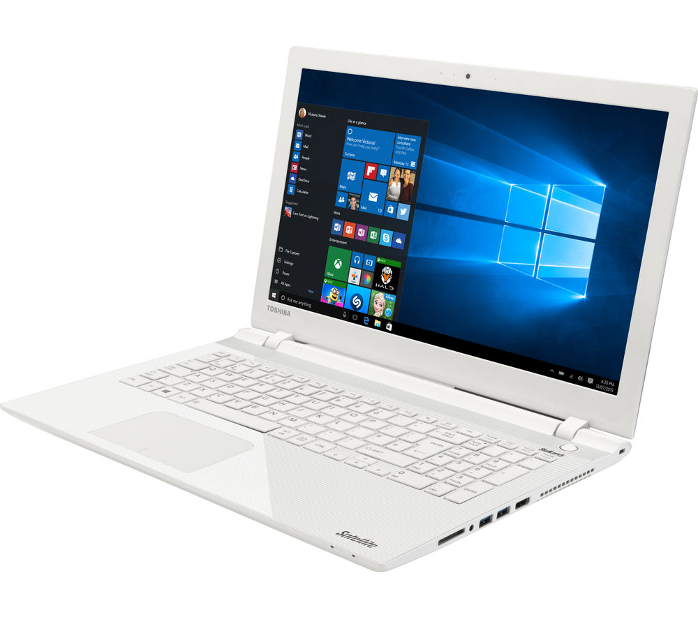 buy toshiba satellite l50 c 12v 15 6 laptop white. Black Bedroom Furniture Sets. Home Design Ideas
