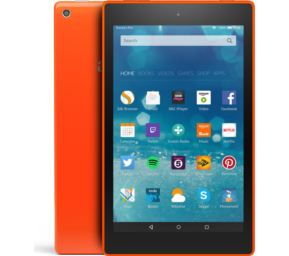 "Image of Amazon Fire HD 8"" Tablet - 8 GB, Orange"