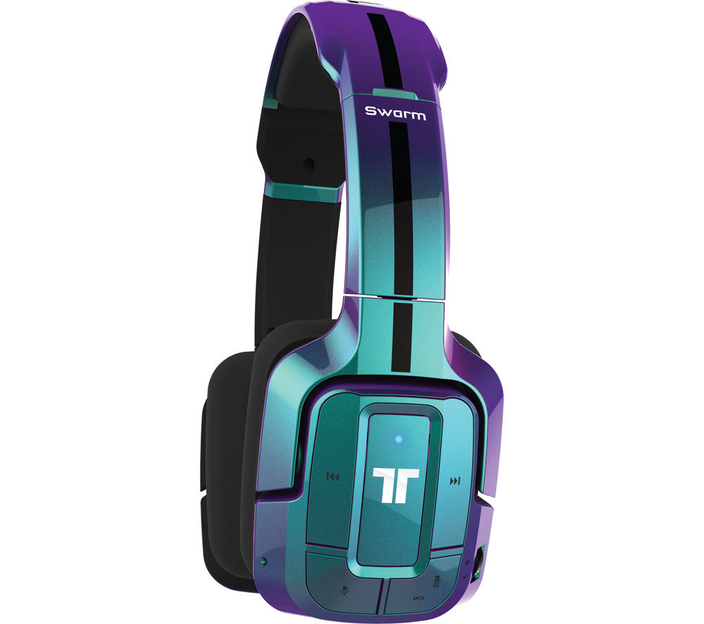 Image of Tritton Swarm Flip Wireless 2.0 Gaming Headset - Blue, Blue