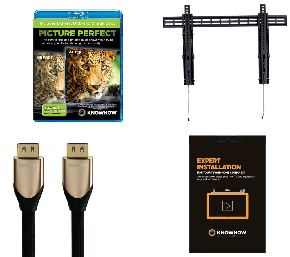 KNOWHOW TV Wall Mount Installation Bundle