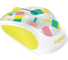 LOGITECH Popsicles M238 Wireless Optical Touch Mouse - White & Yellow