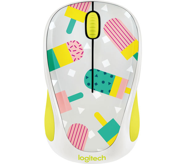 Image of LOGITECH Popsicles M238 Wireless Optical Touch Mouse - White & Yellow