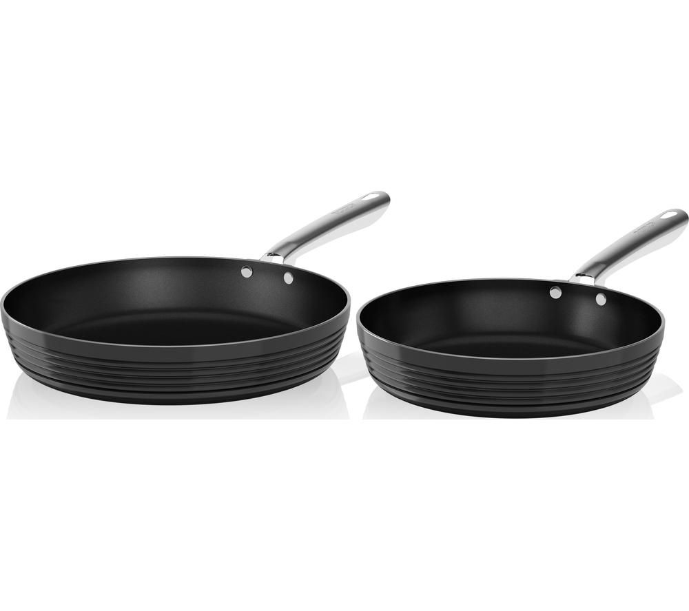 tower t90910b 2piece nonstick frying pan set black - Non Stick Frying Pan