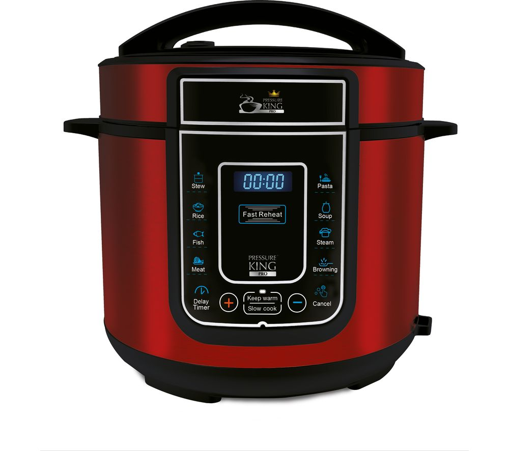 PRESSURE KING Pro Digital Pressure Cooker - Red
