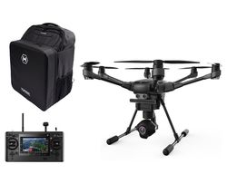 YUNEEC Typhoon H Drone with ST-16 Controller, RealSense Module & Backpack - Black