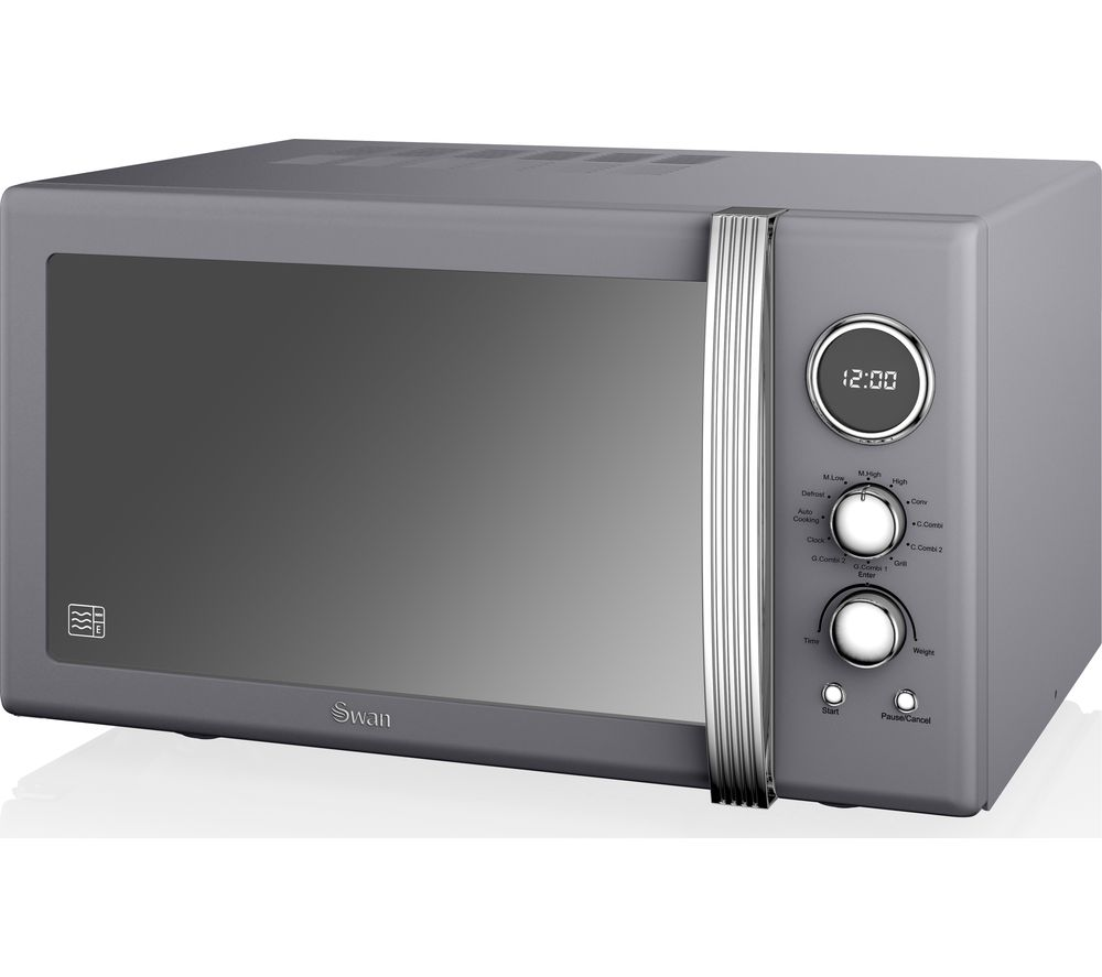 Buy Swan Sm22080grn Retro Microwave With Grill Grey