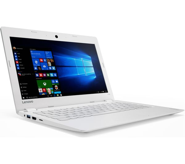 "LENOVO Ideapad 110S-11IBR 11.6"" Laptop - White Deals 