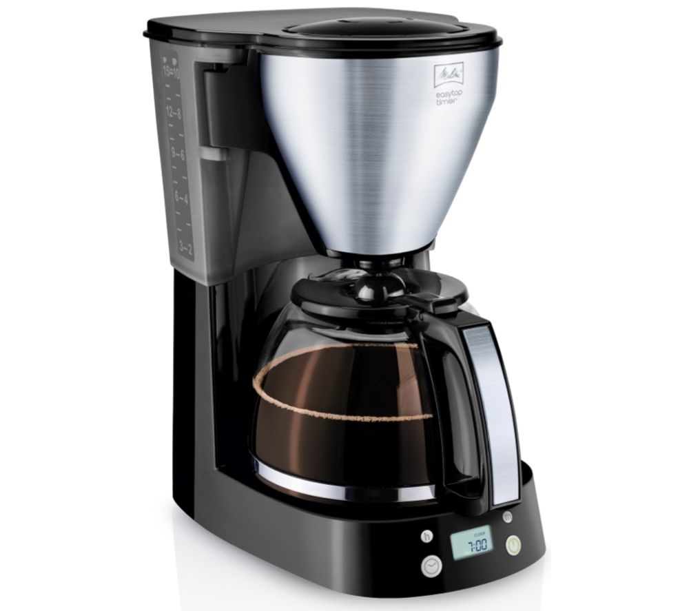 Buy MELITTA Easy Top Timer Filter Coffee Machine - Black & Stainless Steel Free Delivery Currys