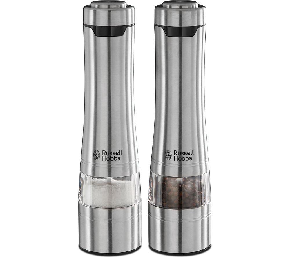 RUSSELL HOBBS Electric Illuminating Salt & Pepper Grinder - Stainless Steel
