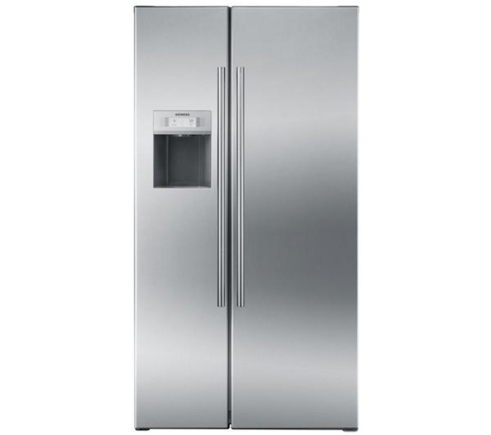 SIEMENS iQ500 KA62DA71GB American-Style Fridge Freezer - Stainless Steel
