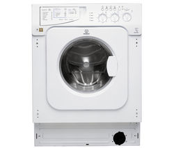 Indesit Ecotime IWME147 1400 Spin, 7kg Load Integrated Washing Machine - White