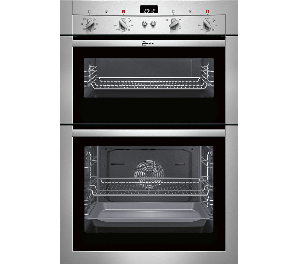 NEFF U14M42N3GB Electric Double Oven - Stainless Steel