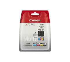CANON CLI-551 Cyan, Magenta, Yellow & Black Ink Cartridges - Multipack