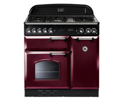 RANGEMASTER Classic 90 Dual Fuel Range Cooker - Cranberry & Chrome