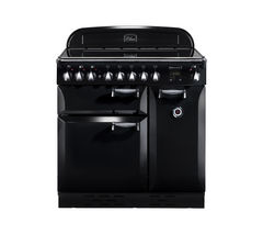 RANGEMASTER Elan 90 Electric Induction Range Cooker - Black & Chrome