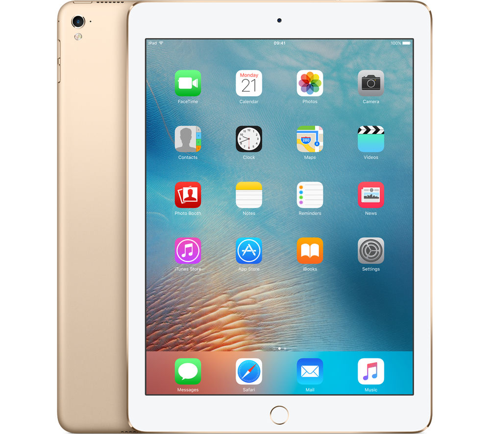 "Apple 9.7"" iPad Pro Cellular - 256 GB, Gold, Gold"