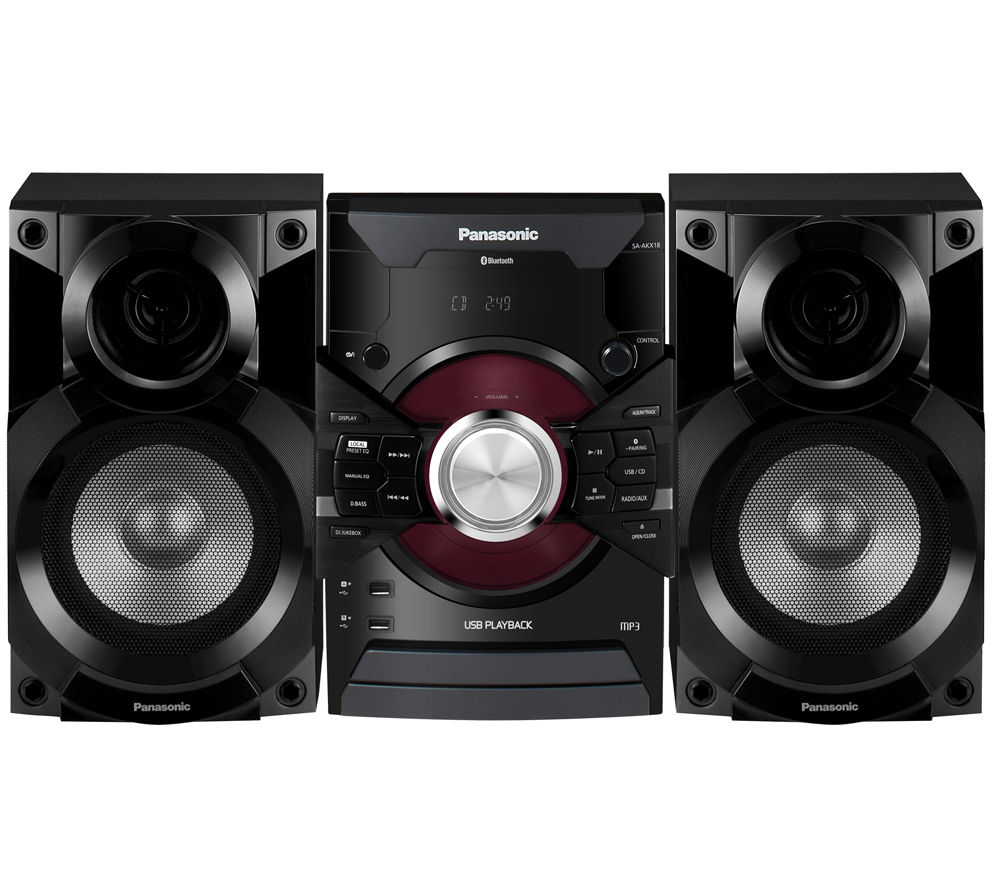 Click to view more of PANASONIC  SC-AKX18E-K Wireless Megasound Hi-Fi System, Black