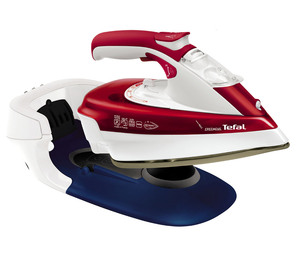 TEFAL Freemove FV9970 Cordless Steam Iron - White & Red