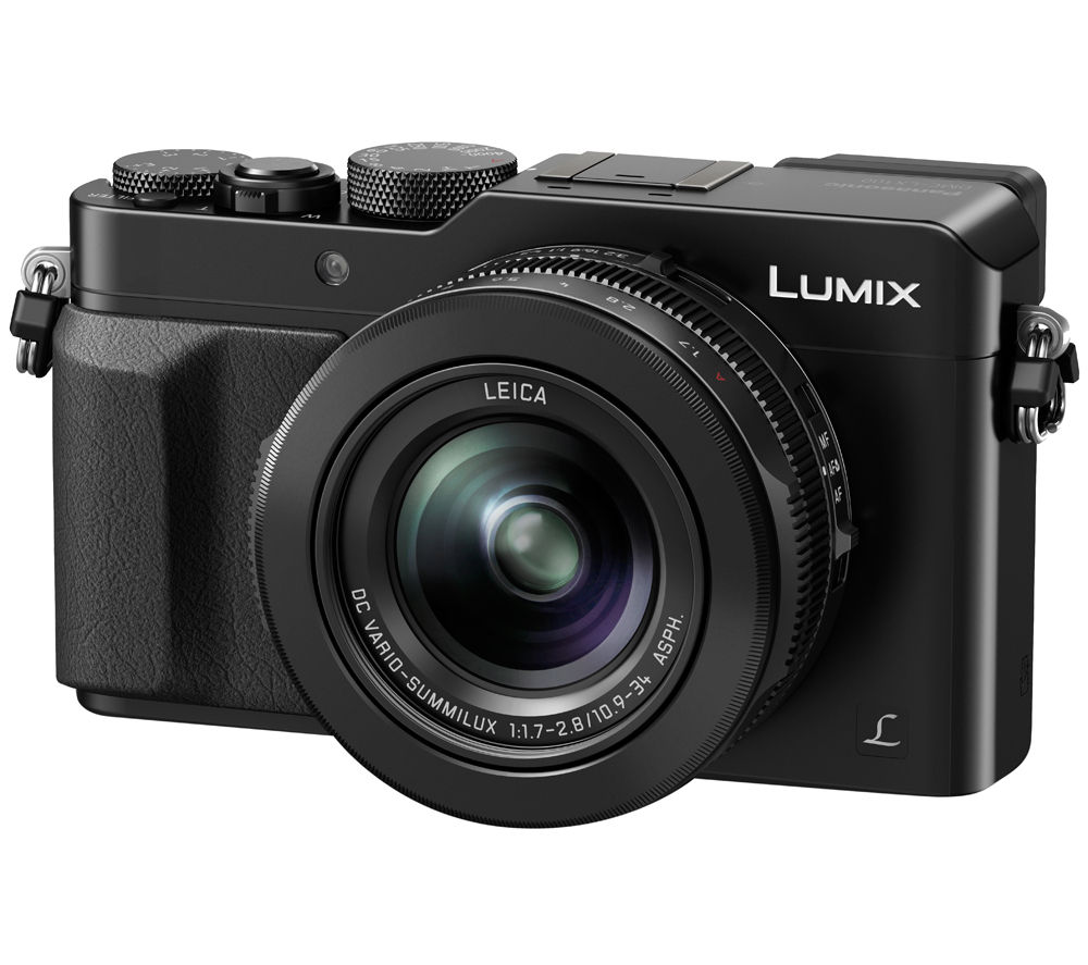 PANASONIC Lumix DMC-LX100EBK High Performance Compact Camera - Black + Hard Shell Camera Case - Black
