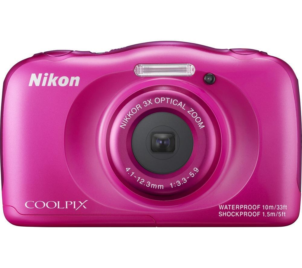 NIKON COOLPIX S33 Tough Compact Camera - Pink