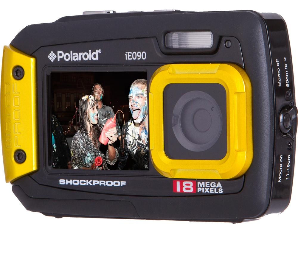 POLAROID IE090-YEL-INT Tough Compact Camera - Yellow