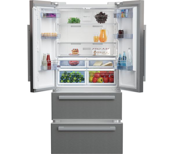 buy beko select gne60520x american style fridge freezer stainless steel free delivery currys. Black Bedroom Furniture Sets. Home Design Ideas