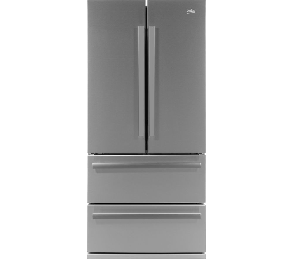 BEKO Select GNE60520X American-Style Fridge Freezer - Stainless Steel