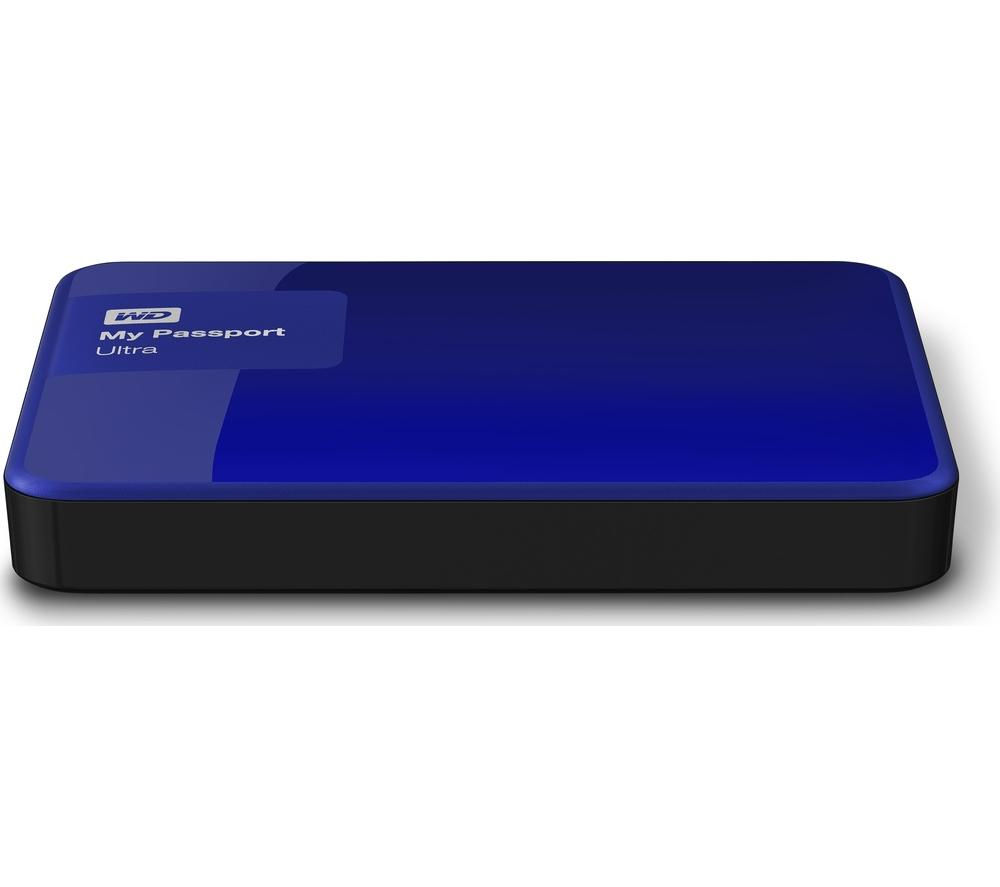 WD My Passport Ultra Exclusive Edition Portable Hard Drive - 2TB, Blue