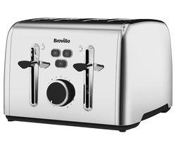 BREVILLE Colour Notes VTT735 4-Slice Toaster - Stainless Steel